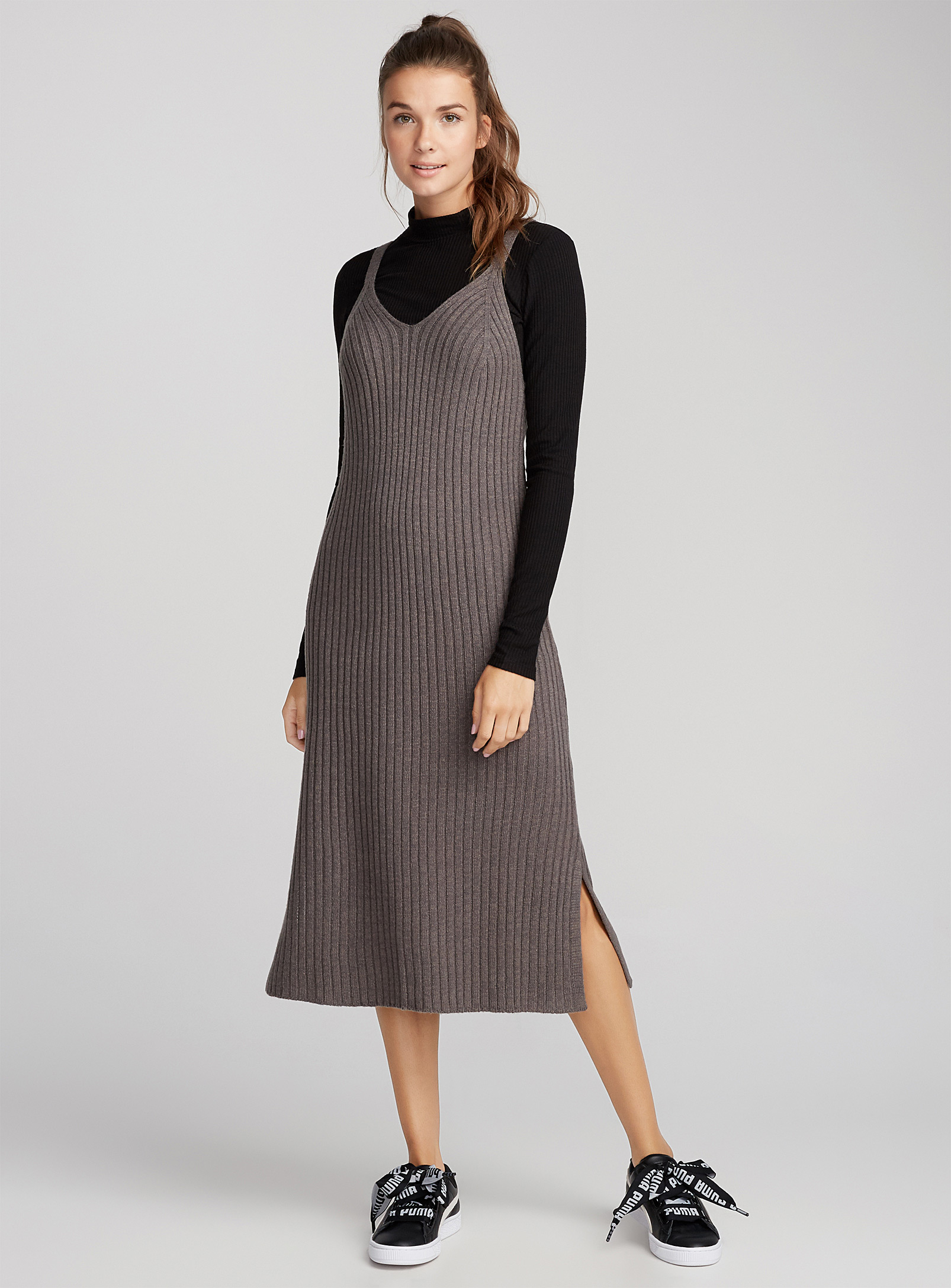 robe camisole tricot, simons