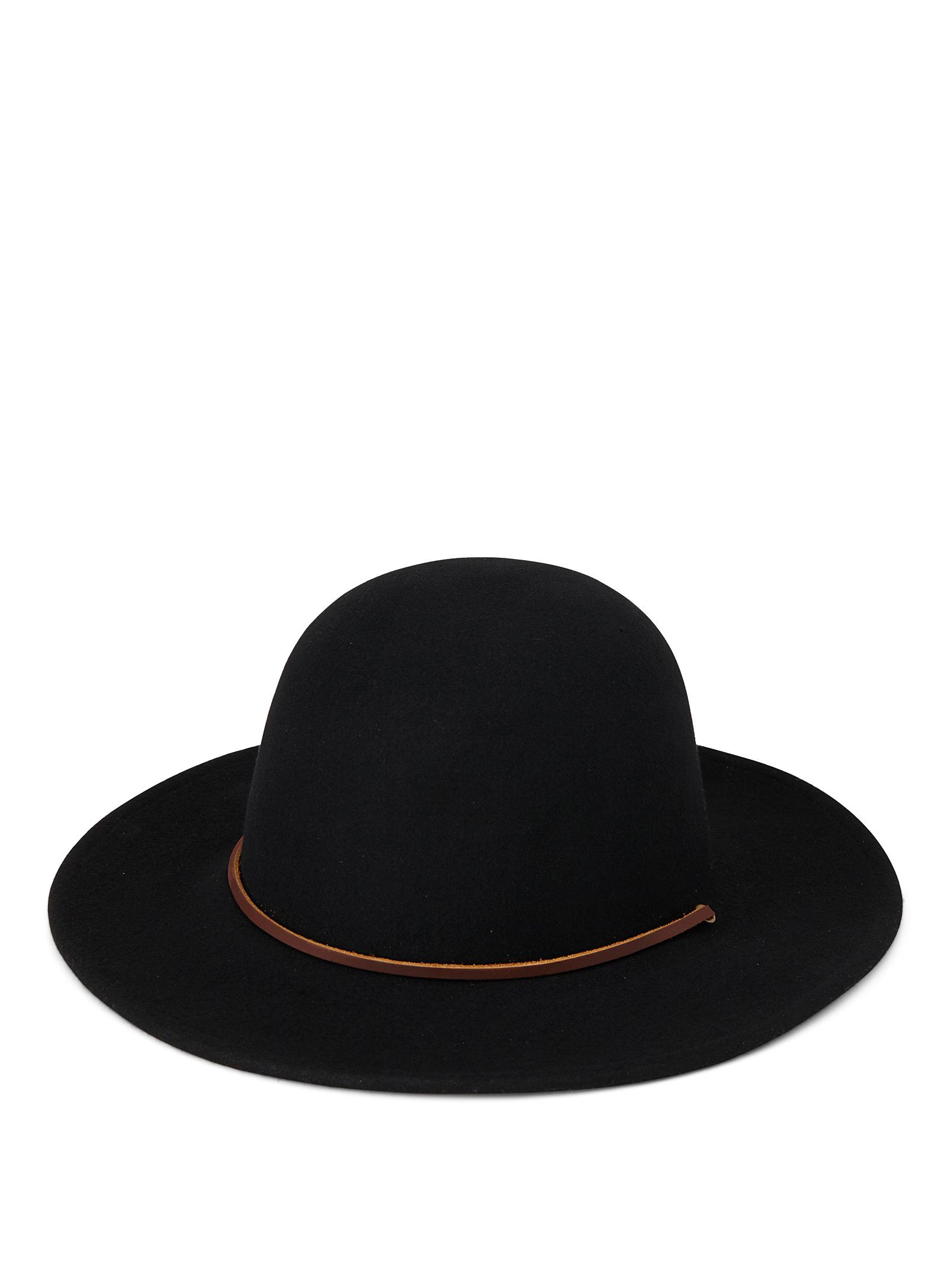 chapeau, feutre, cuir, simons