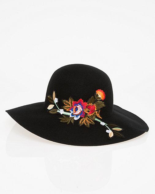 chapeau, feutre, broderies