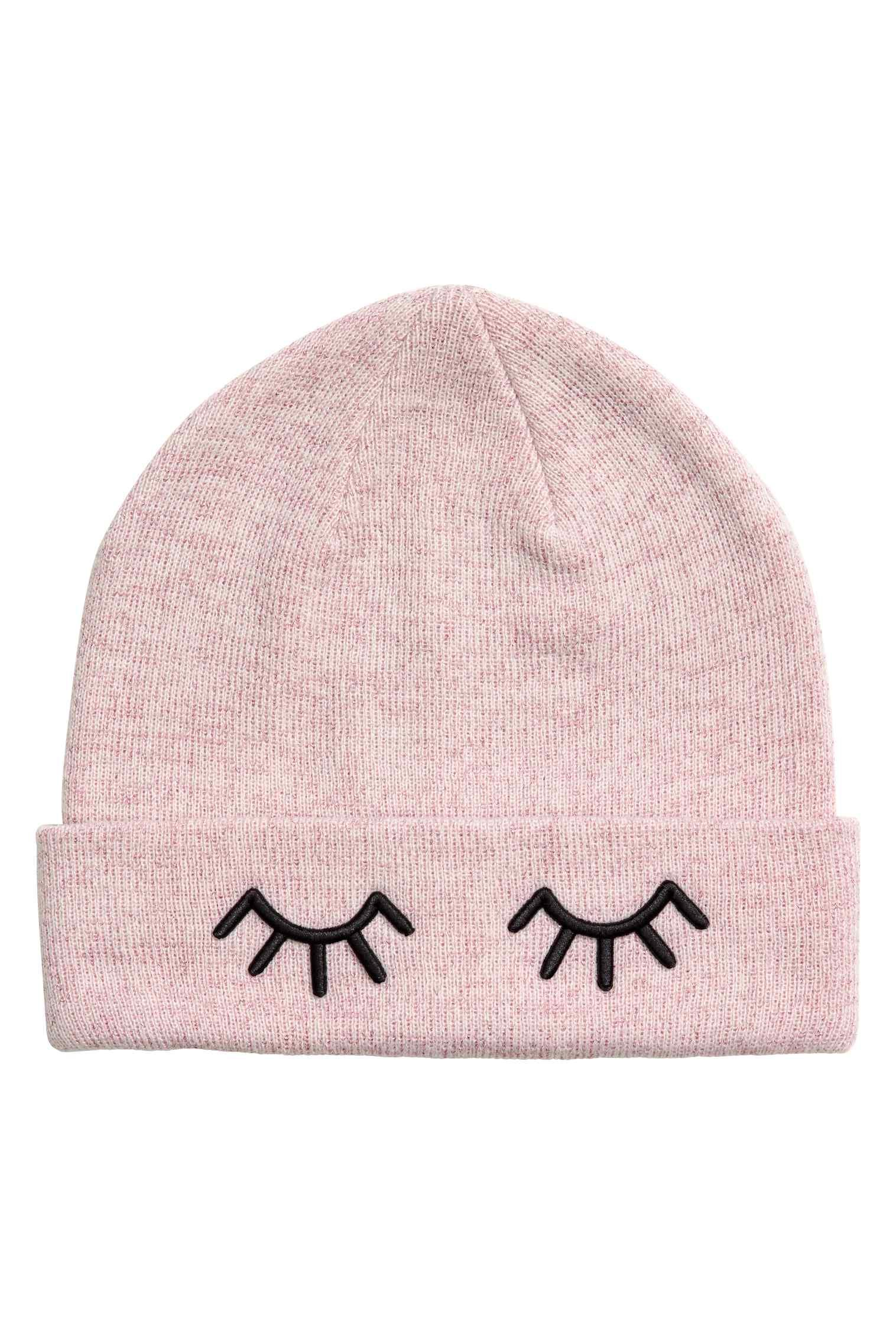 tuque, bonnet, rose, paupières, cils