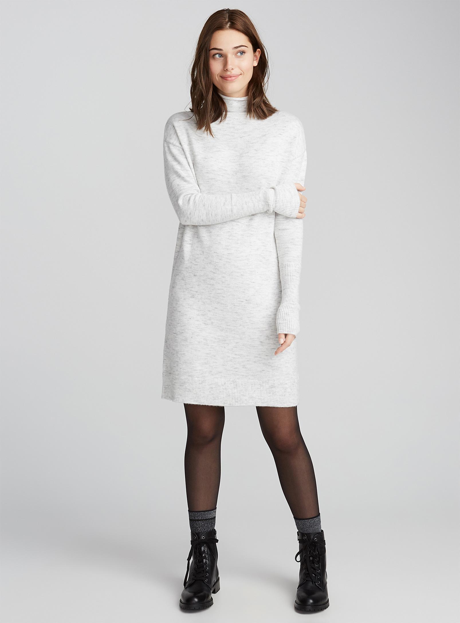 robe en laine, col montant, simons