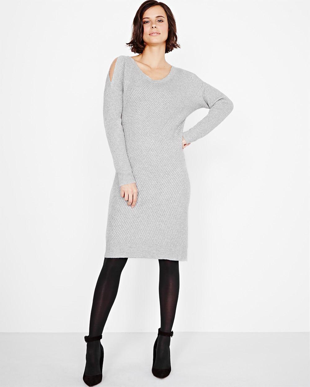 robe tricot, ouvertures sur les épaules