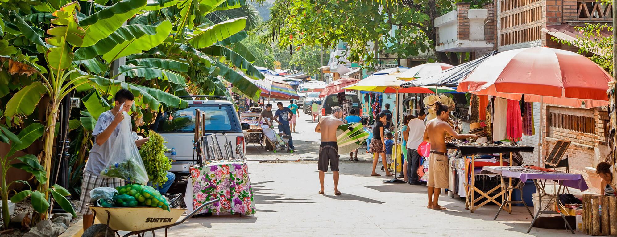 sayulita, nayarit, vacances, mexique