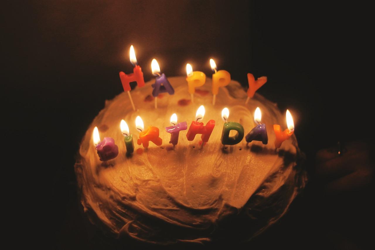 gâteau, bougies, anniversaire, trente ans