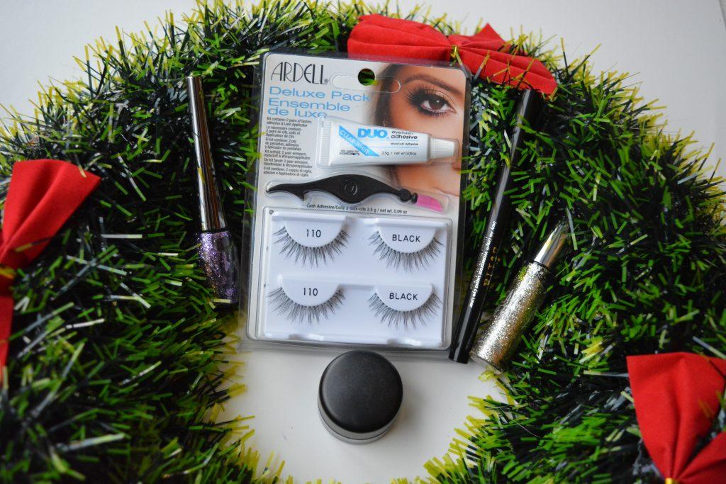 eyeliner, faux-cils