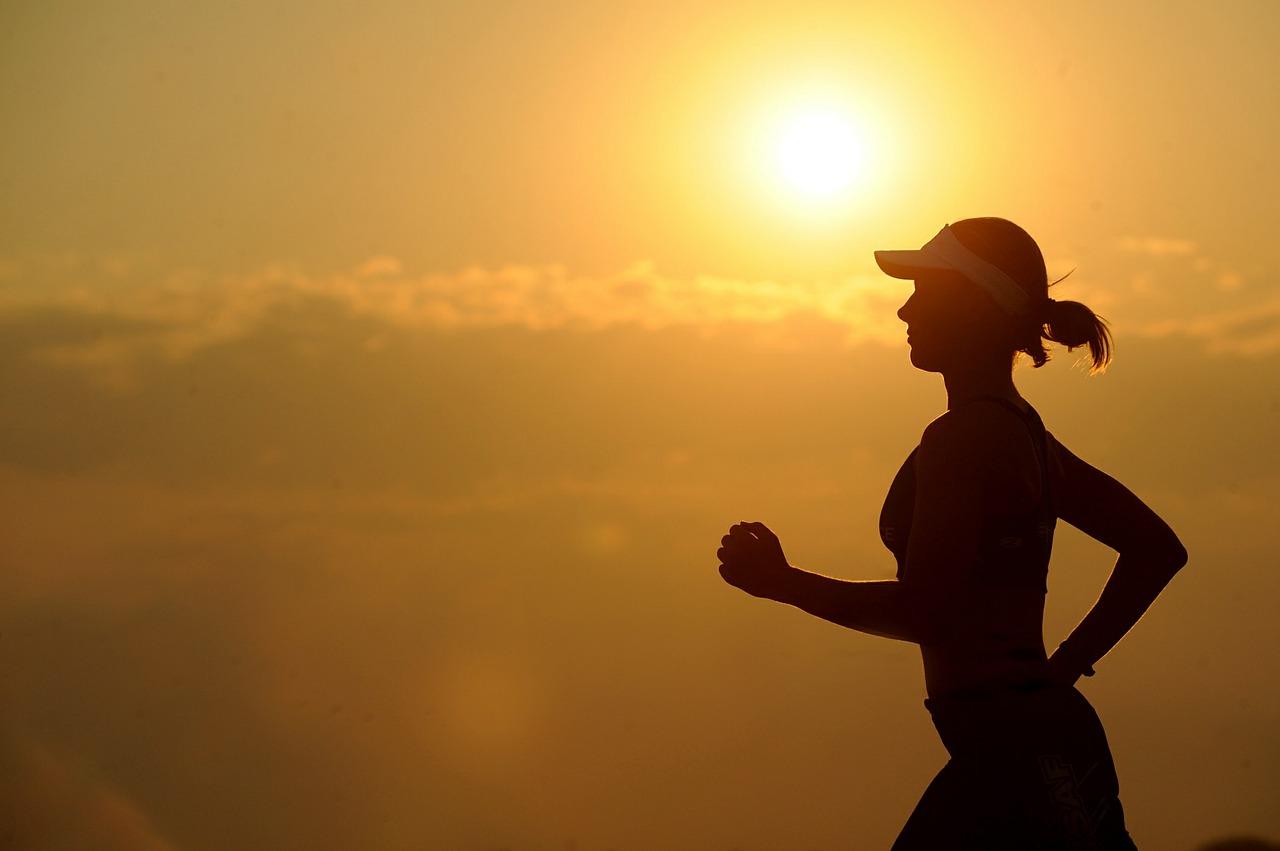 courir, fille, défi, course