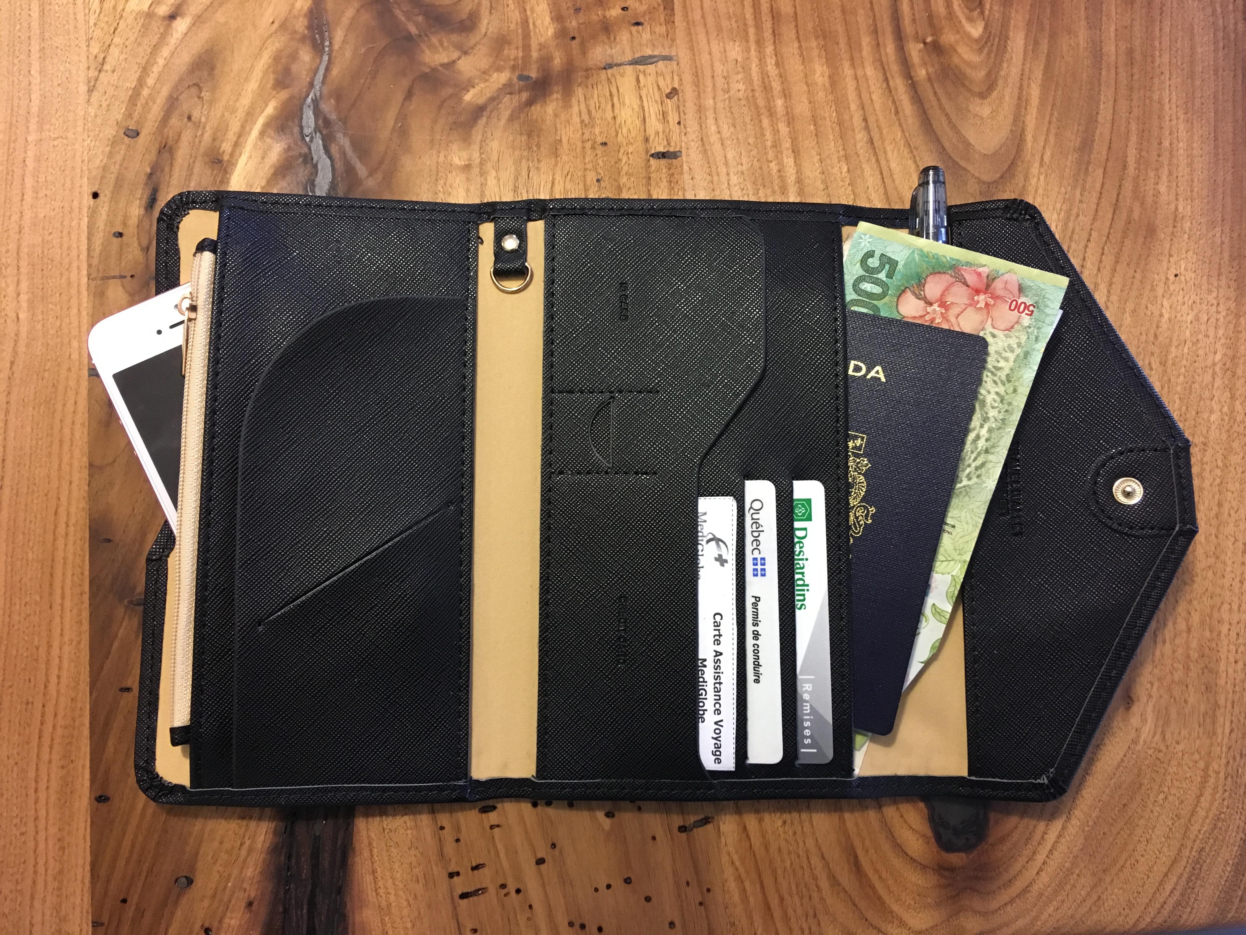 portefeuille de voyage, article de voyage, accessoire de voyage, sac à dos