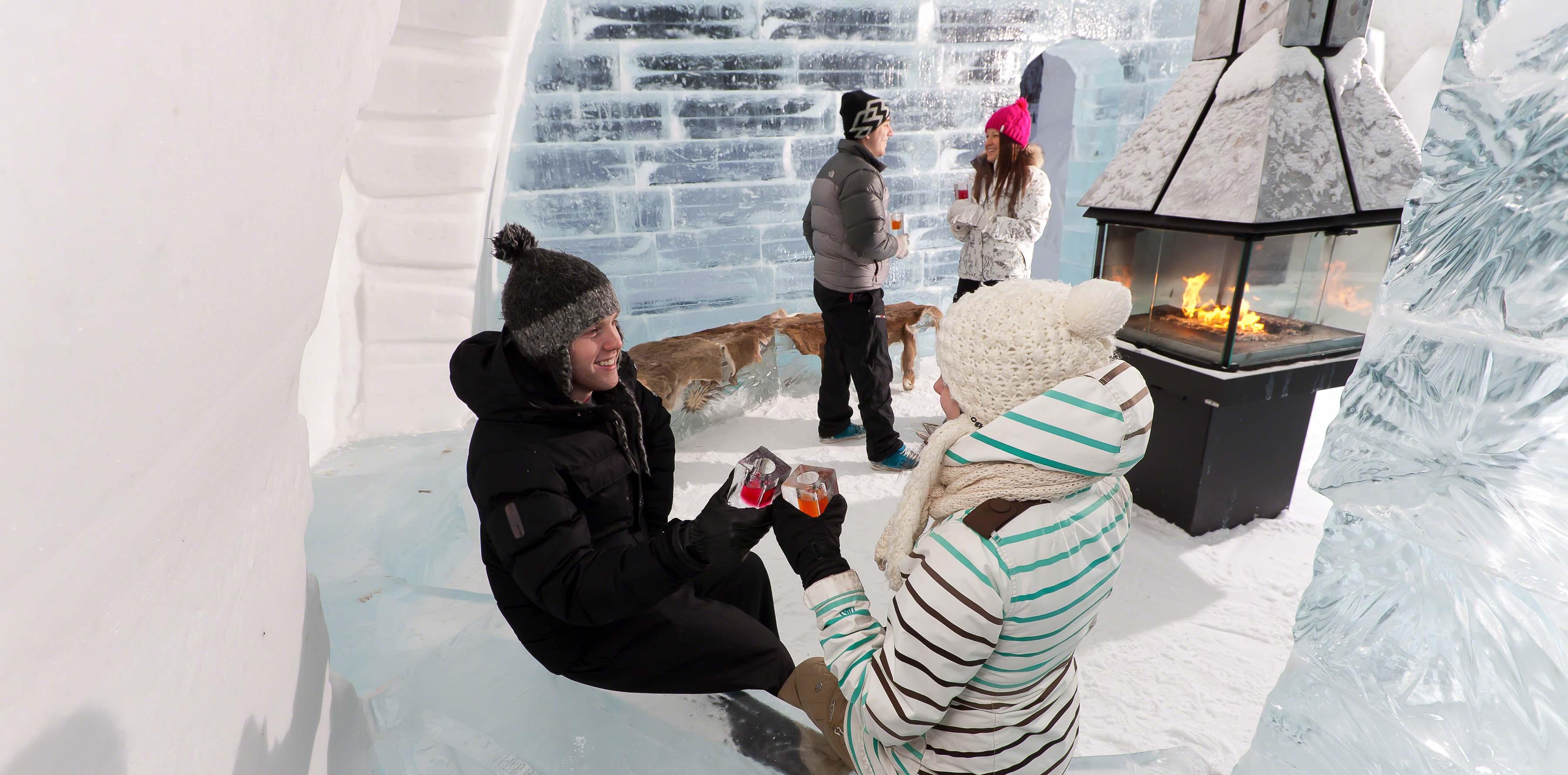 hôtel glace québec hiver activité