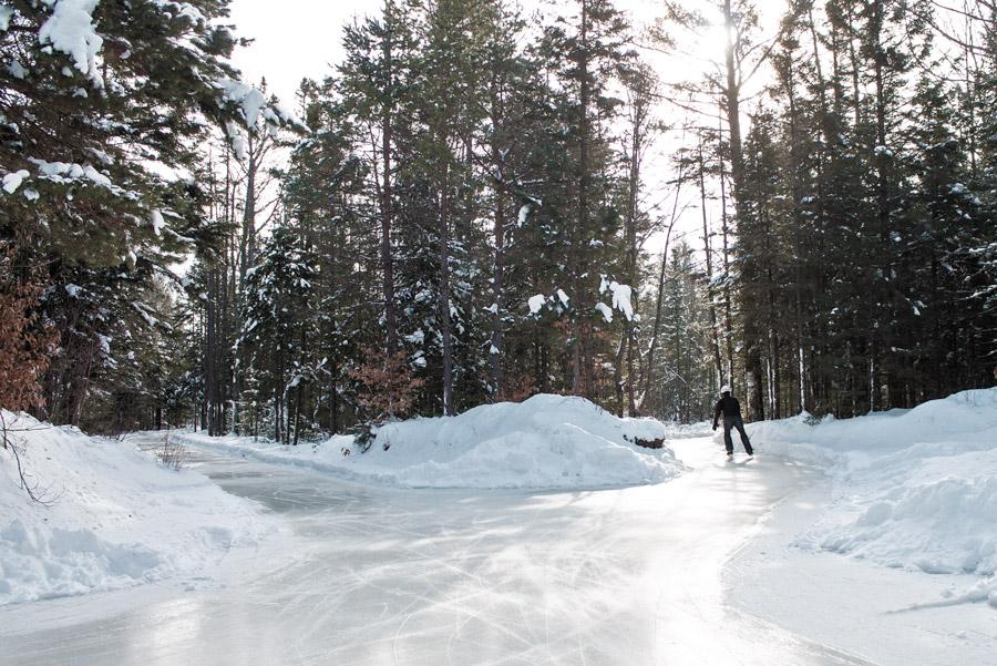 patiner domaine forêt perdue québec hiver
