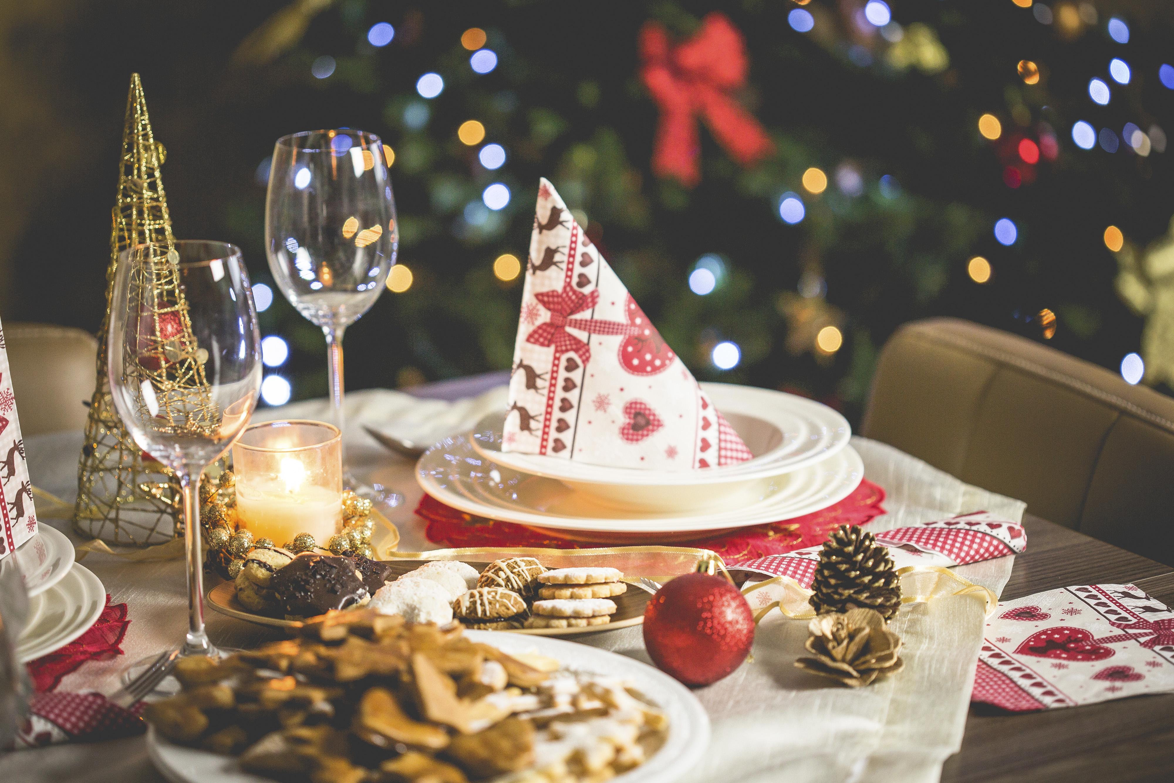Noël souper cuisine famille