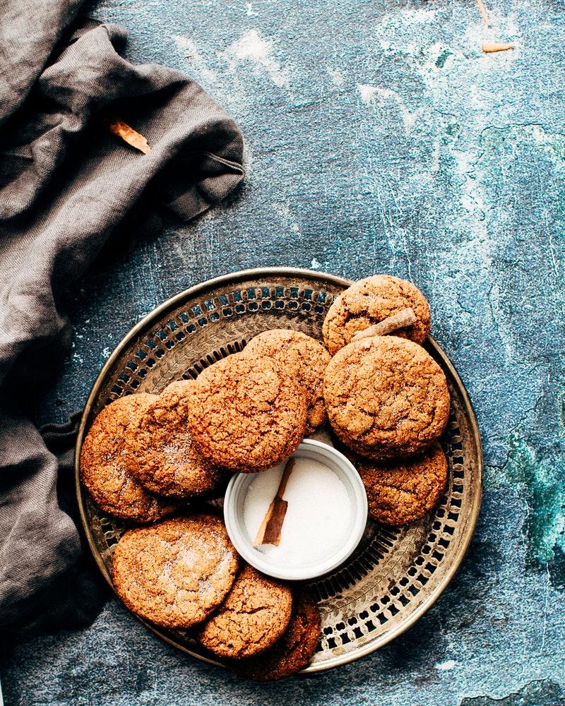 biscuits au gingembre, cannelle, temps des fêtes