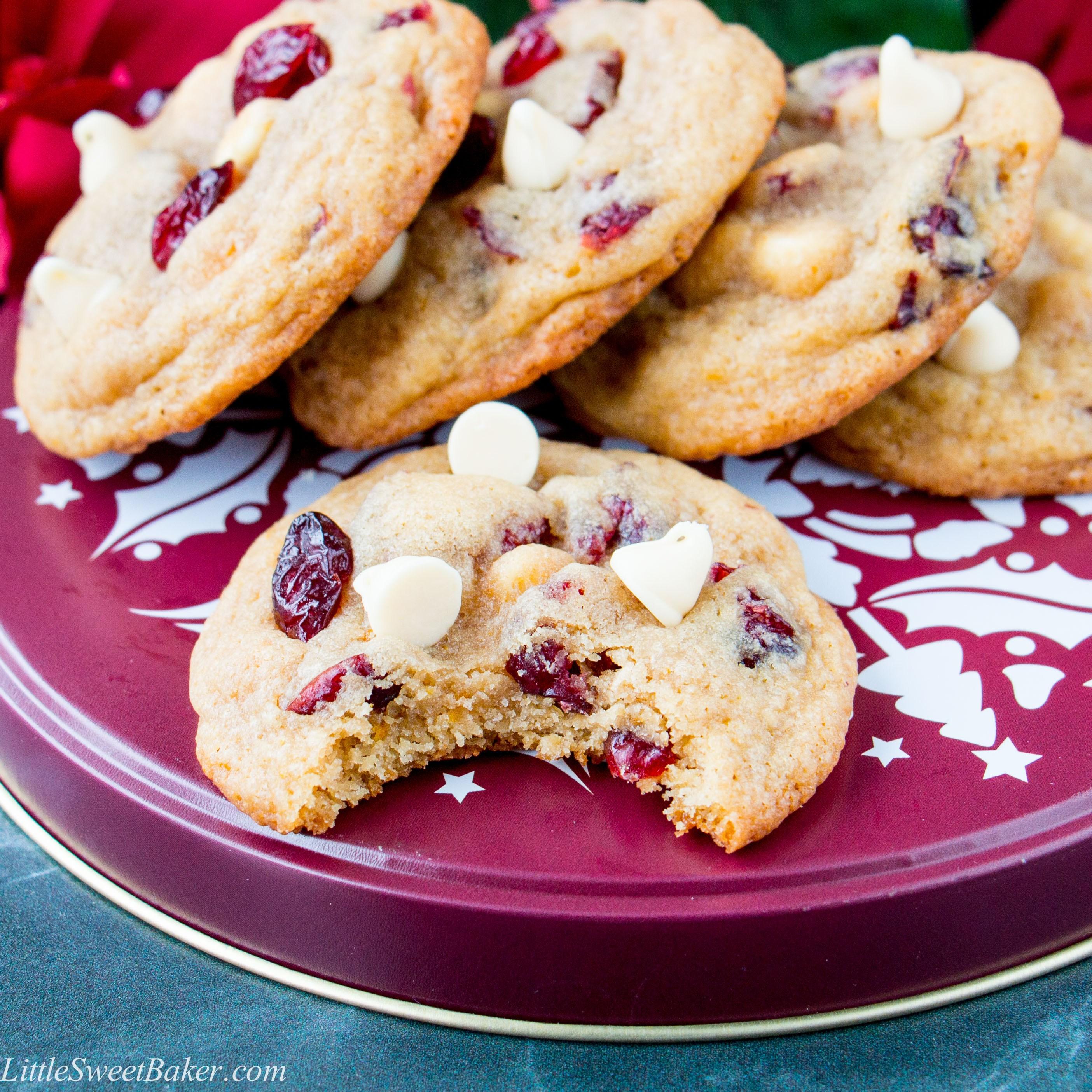 biscuit aux canneberges, orange et chocolat blanc, fêtes, Noël