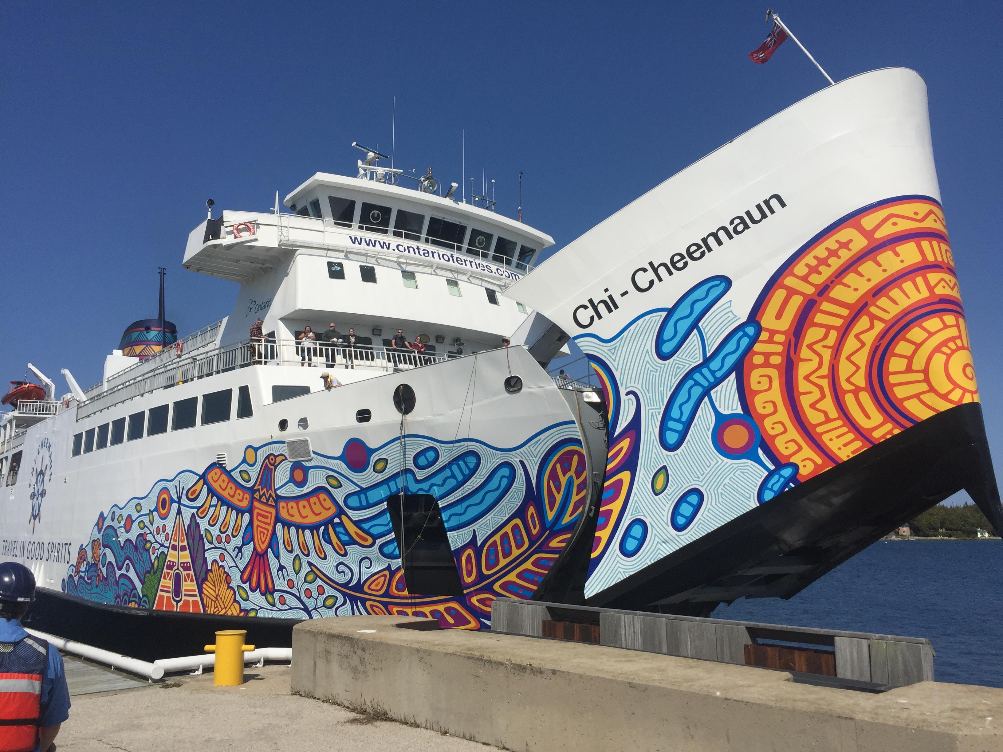 Voyage ferry Chi-Cheemaun road trip Ontario