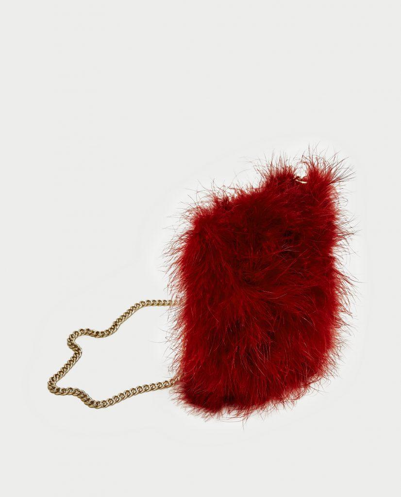 plumes, autruche, accessoires, sac à main