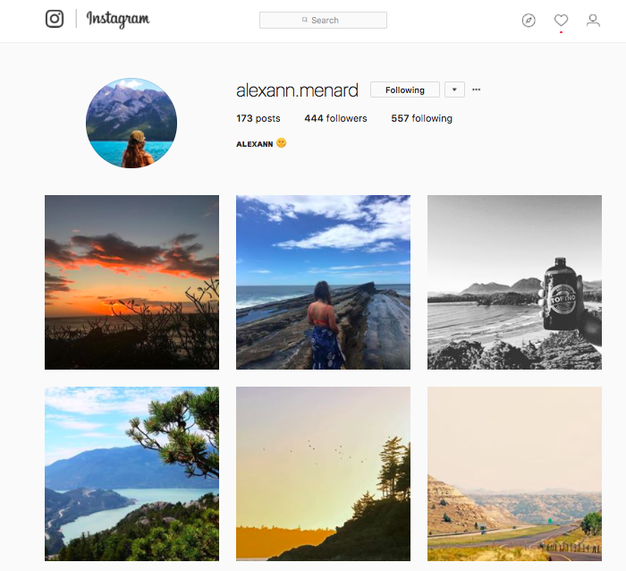 instagram à suivre voyage