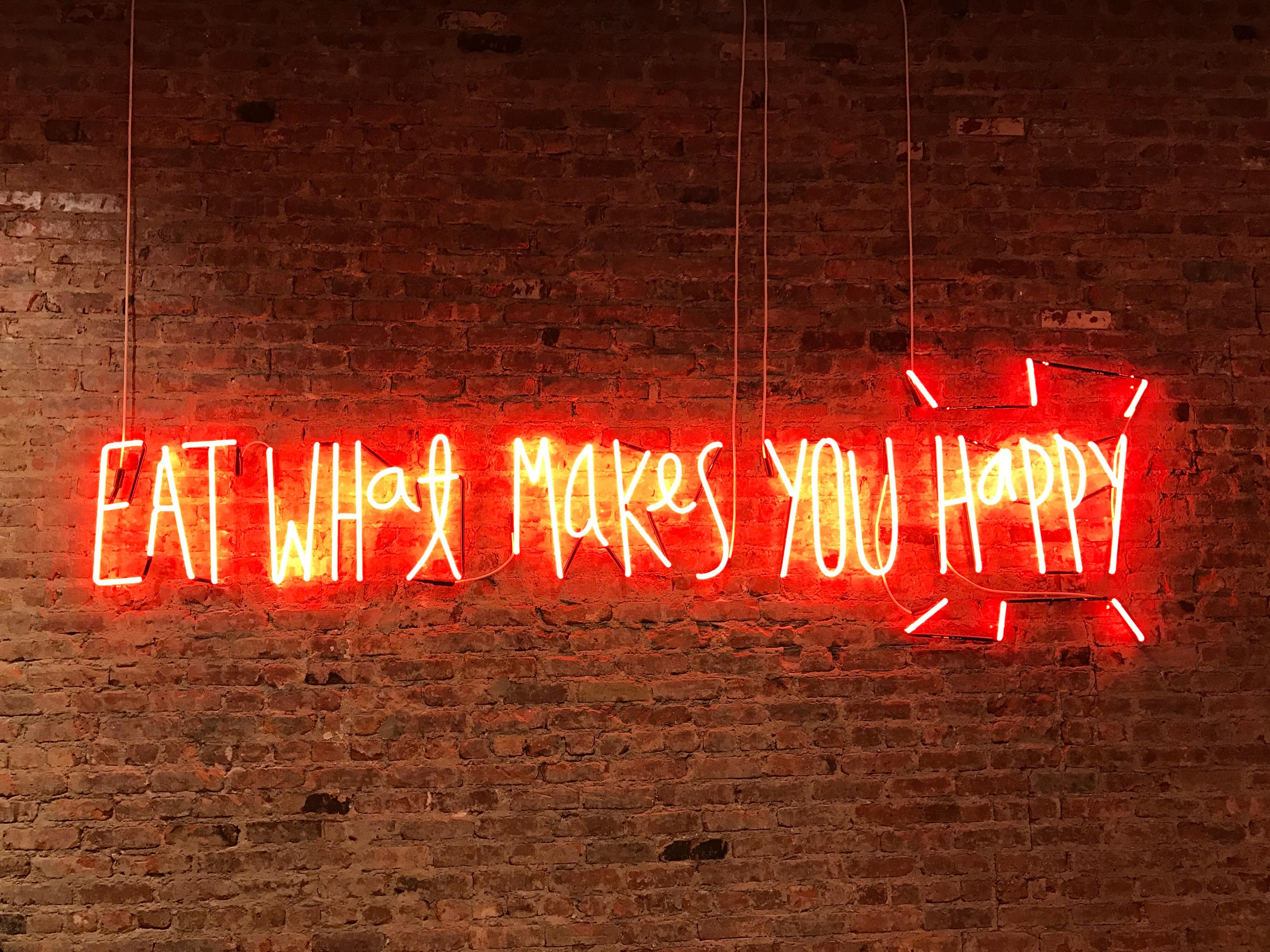 manger, être heureux