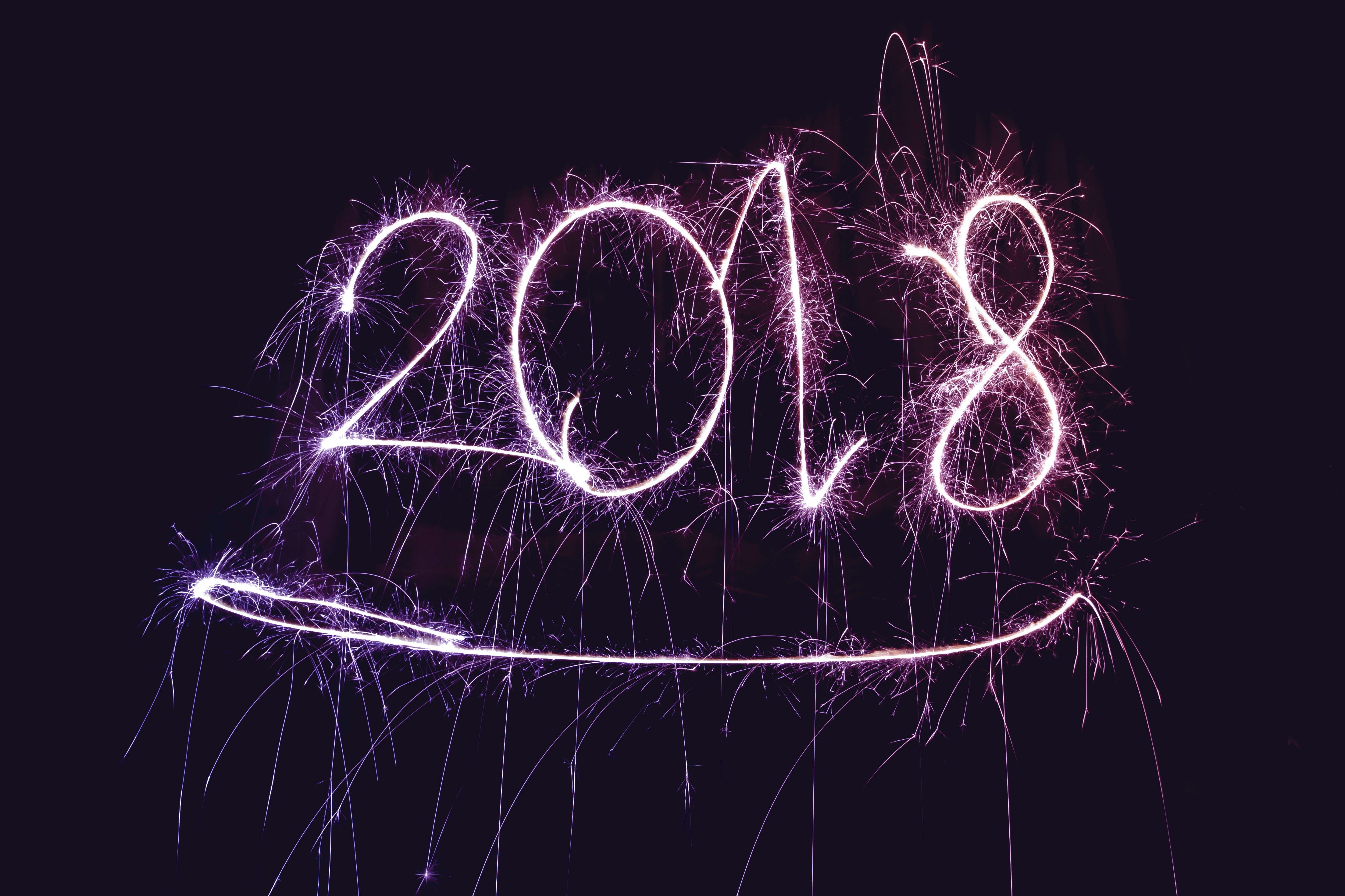 2018, nouvel an, résolutions