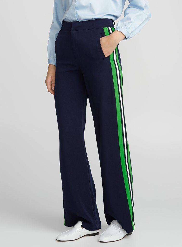 pantalon chic rayé, pantalon à rayure, sport-chic
