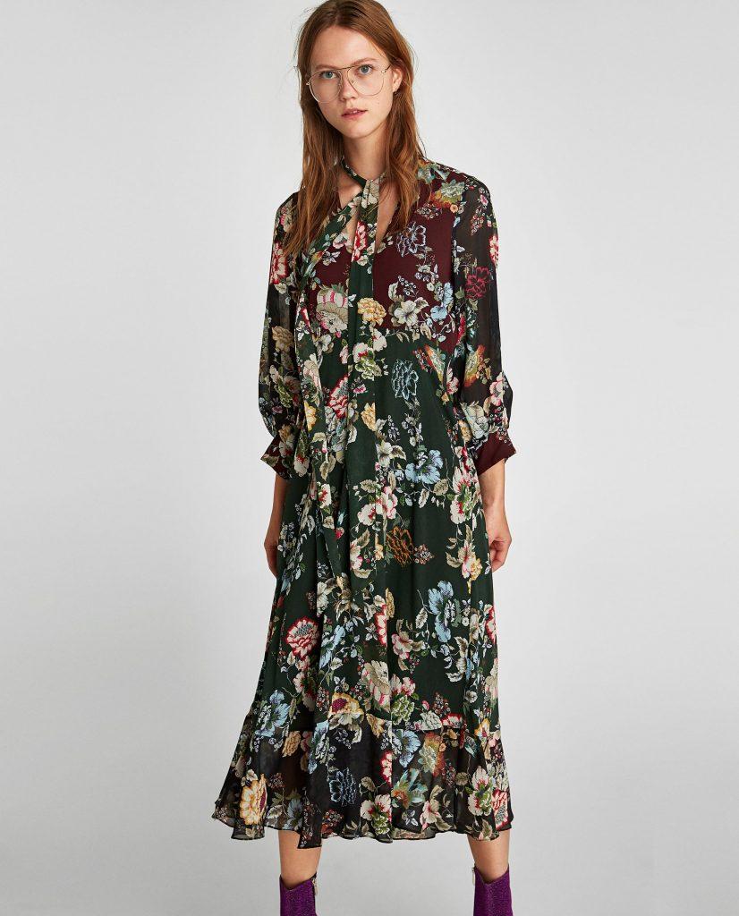 Robe à fleurs, robe fleurie, Zara