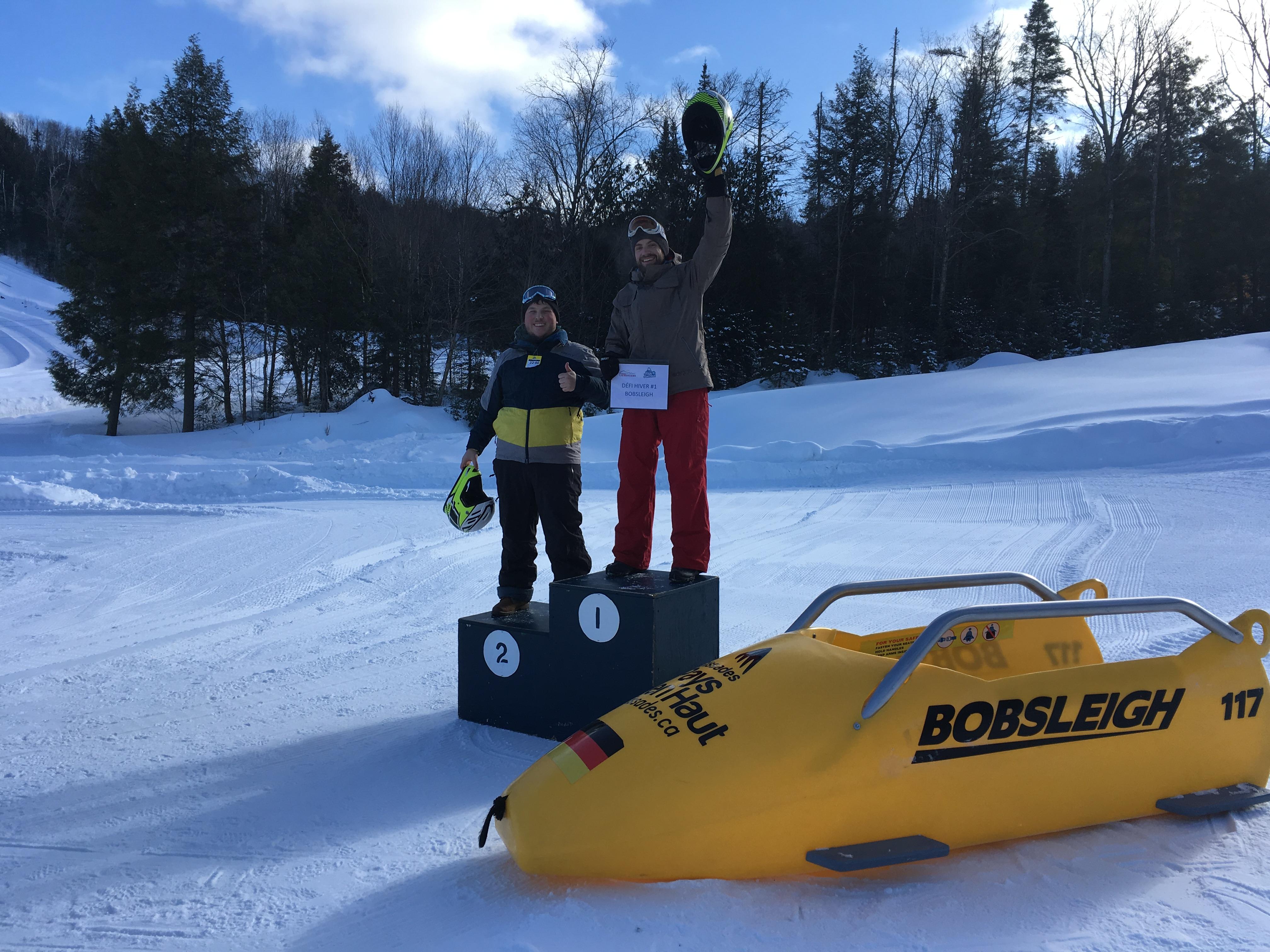 faire du bobsleigh dans les laurentides