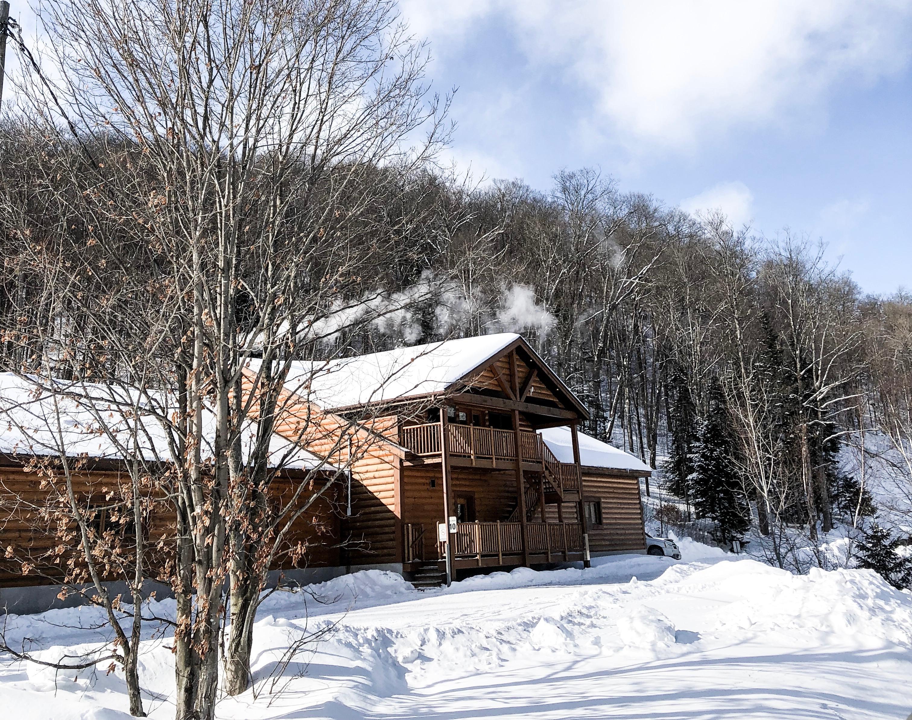 glissades cabane à sucre chalet hiver laurentides famille