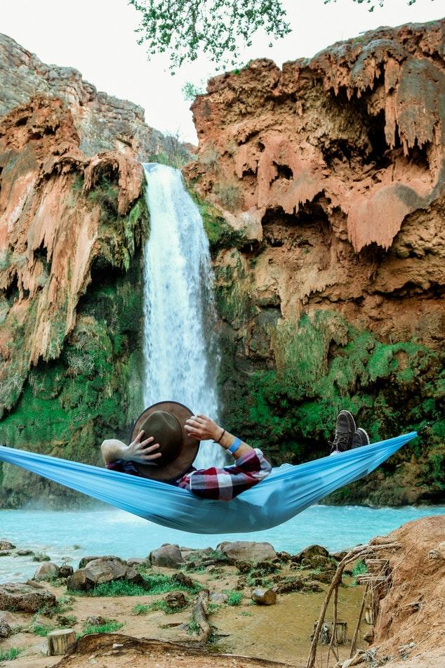 voyager hamac chute d'eau