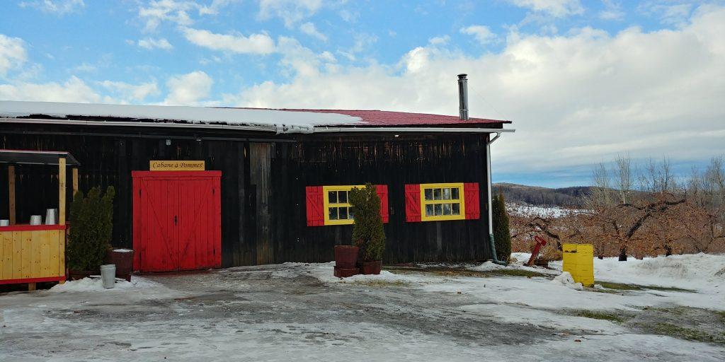 cabane à pommes