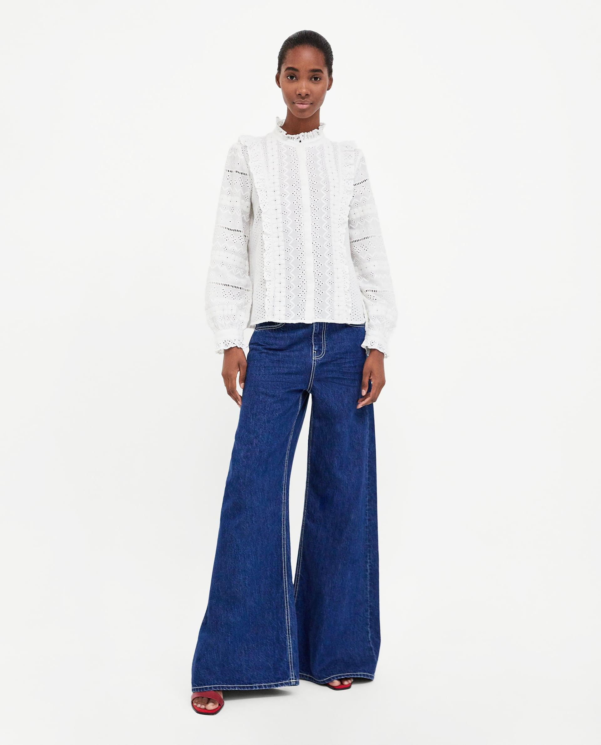 zara look boho jeans