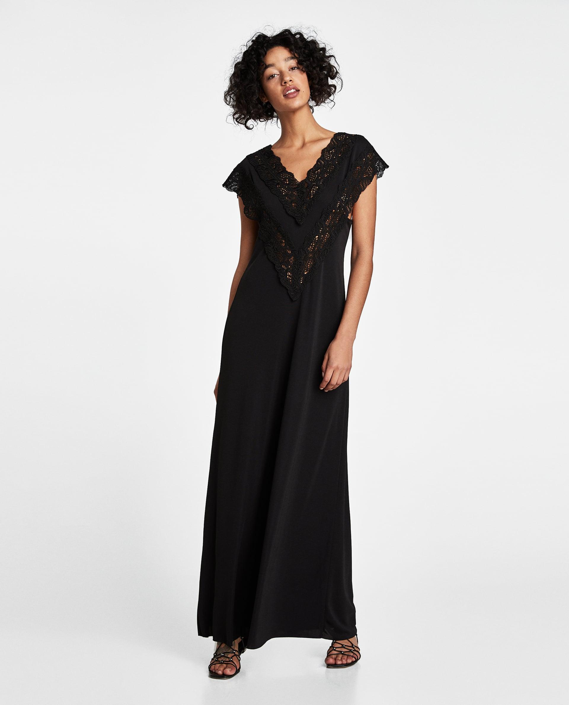 zara robe noire style lingerie