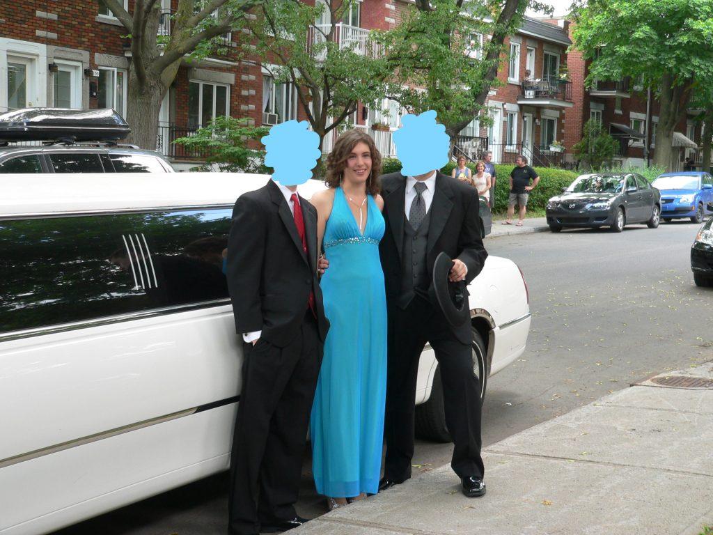 Bal robe bleue