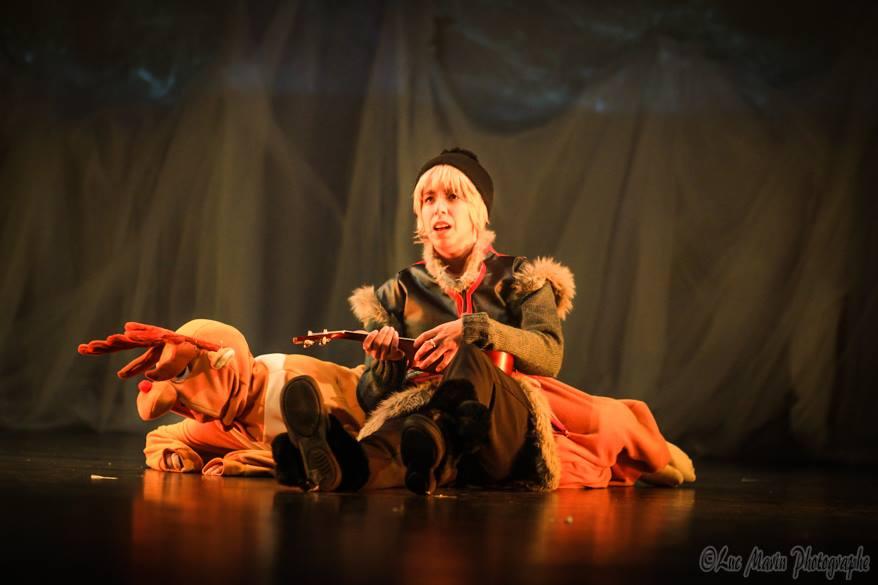 théâtre, reine des neiges, kristoff et Sven