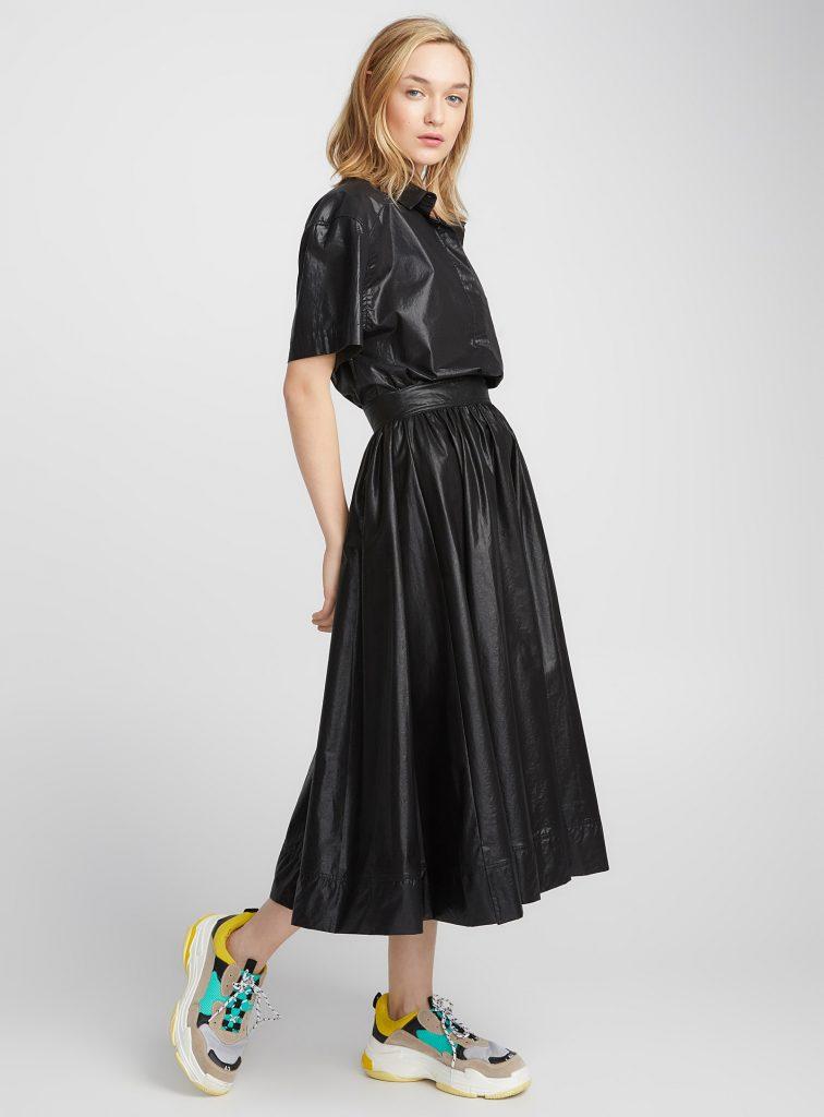 robe en satin noire