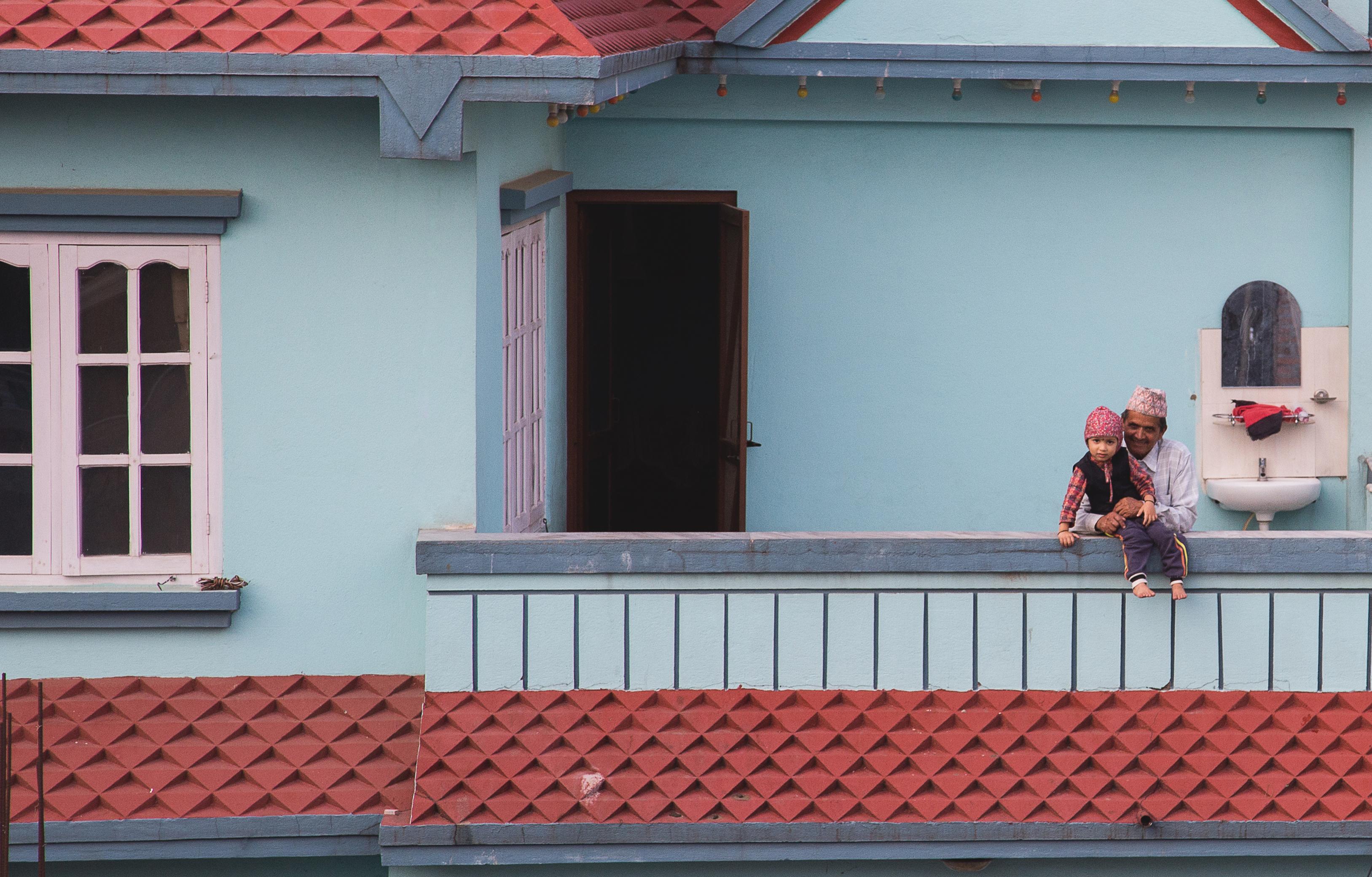 Nepal maison colorée