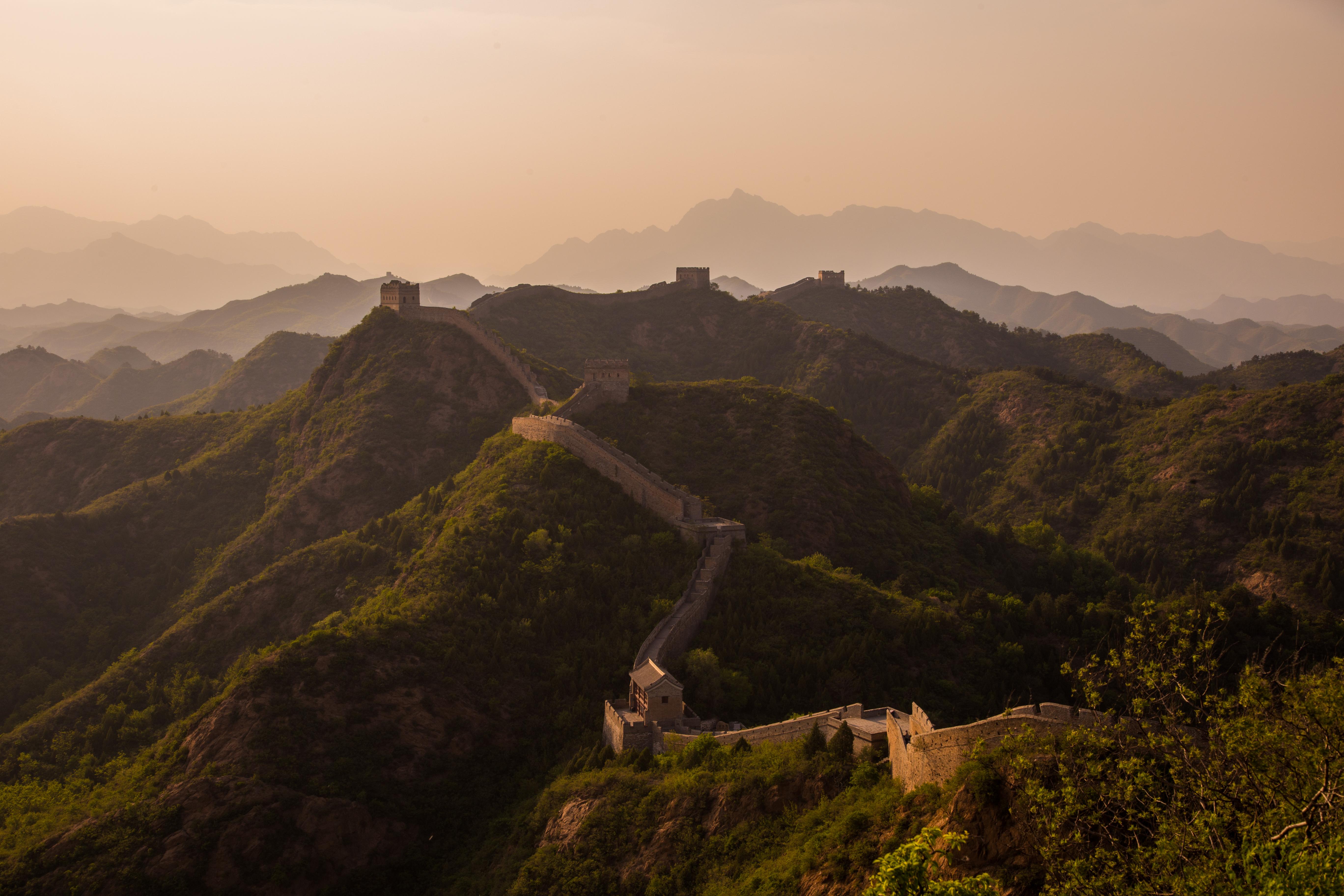 chine muraille montagnes