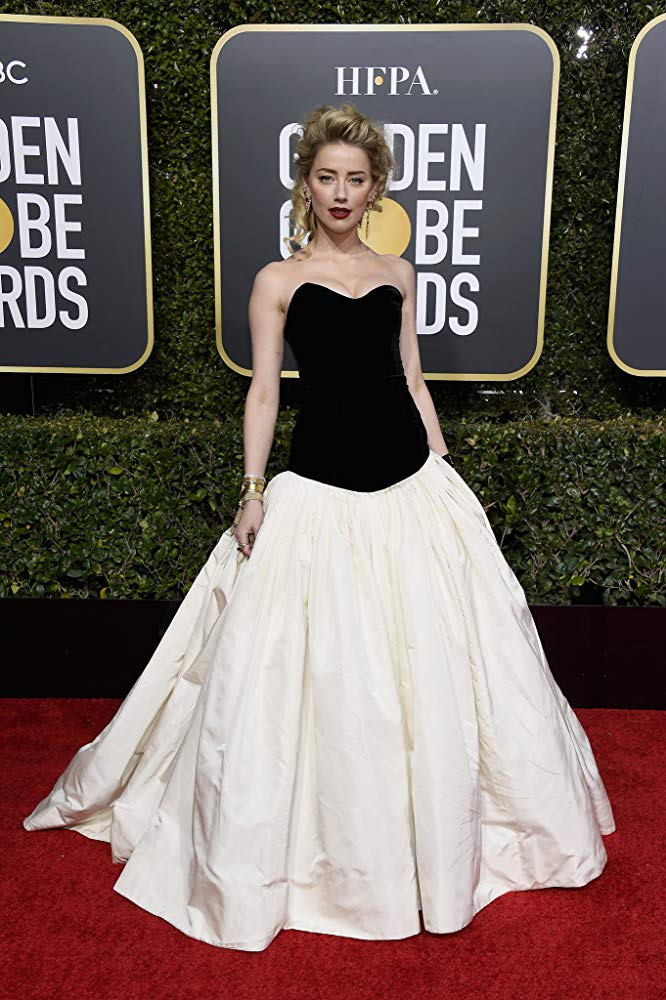 Amber Heard Golden Globes