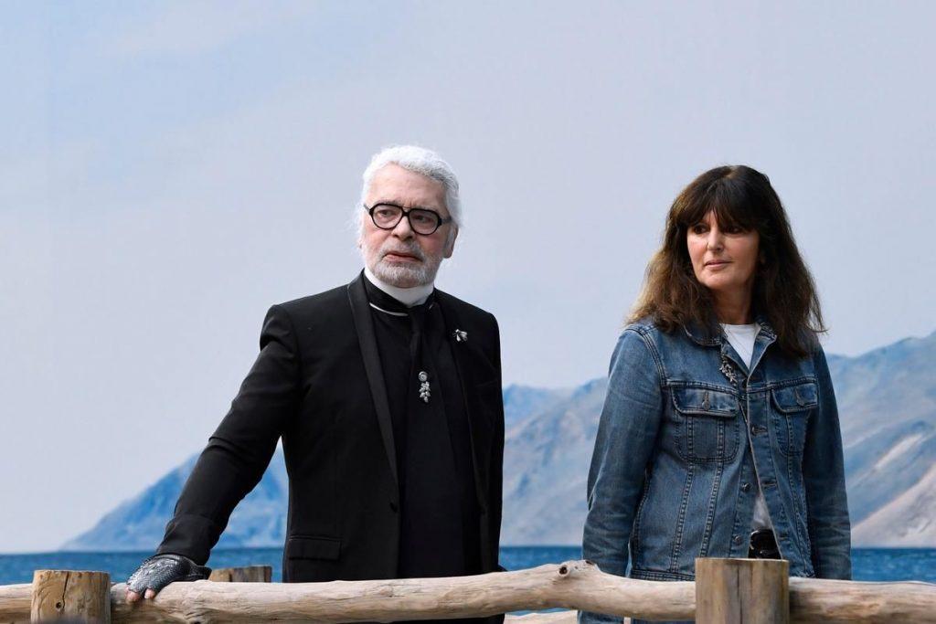 Karl Lagerfeld et Virginie Viard - AFP