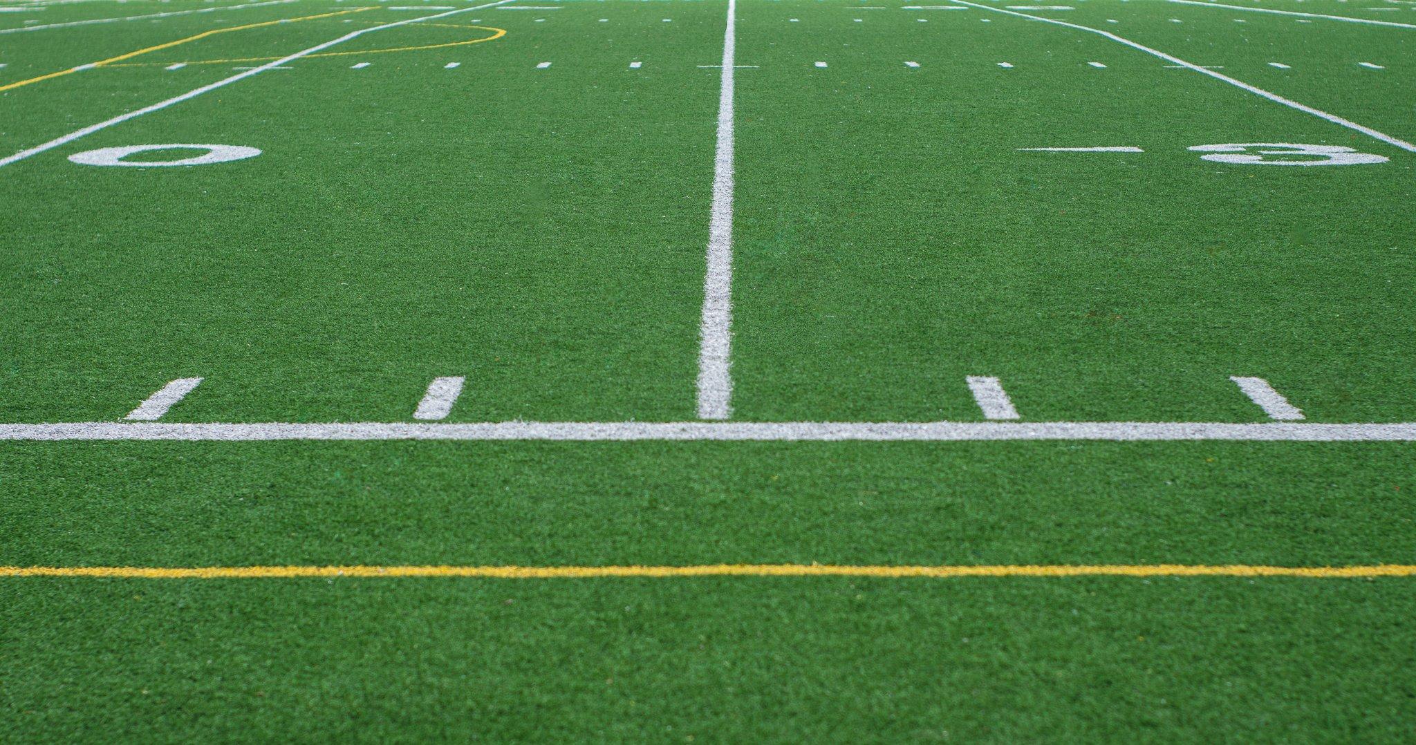 terrain football vert sidelines