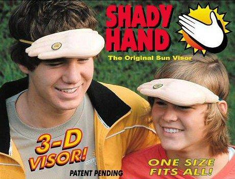 visière de mains