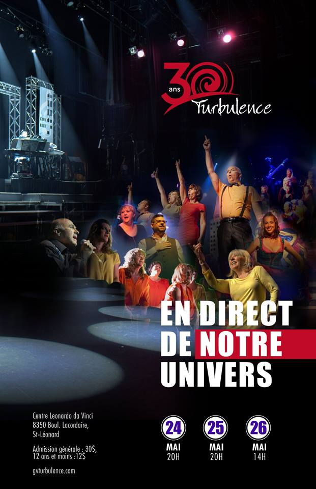 Groupe vocal Turbulence, spectacle 2019