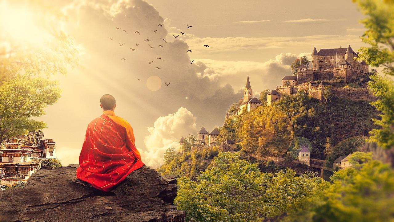 meditation moine temple