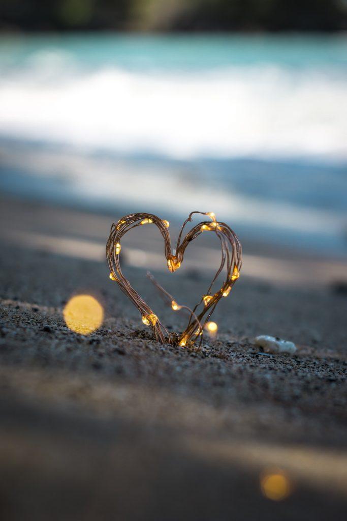 Coeur en lumière