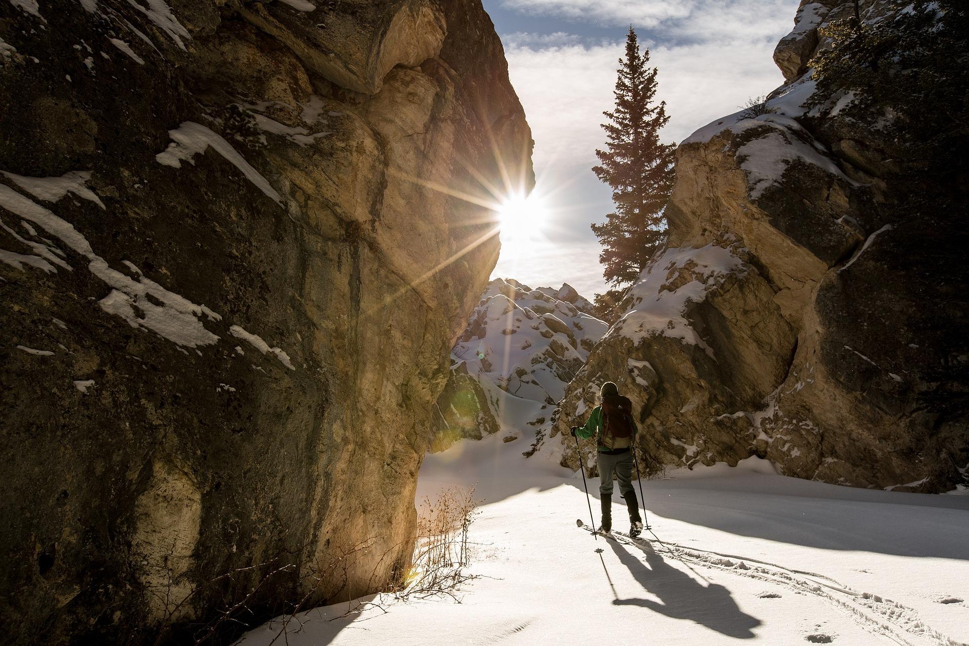 ski de fond montagne hiver