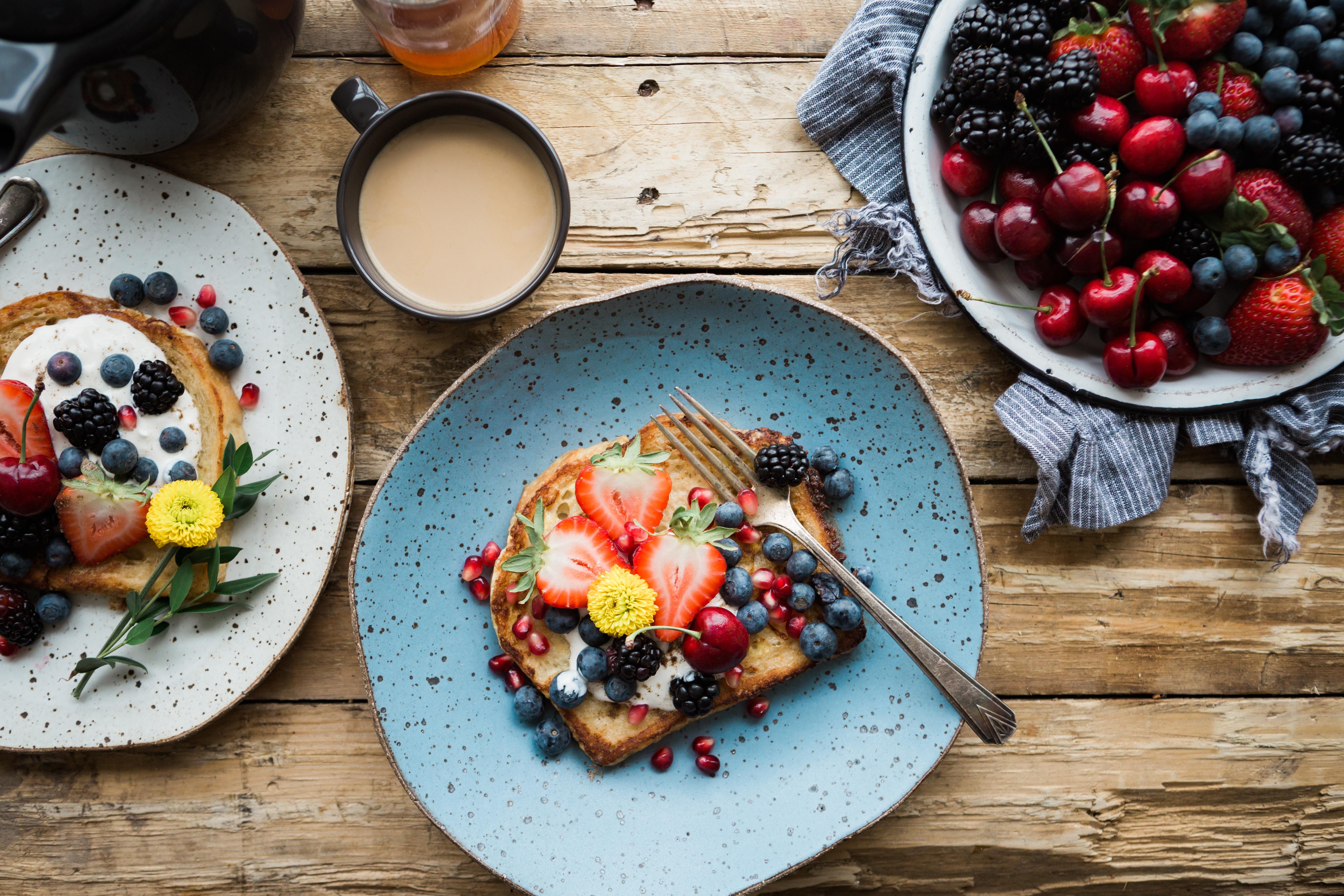 brunch assiette de fruits
