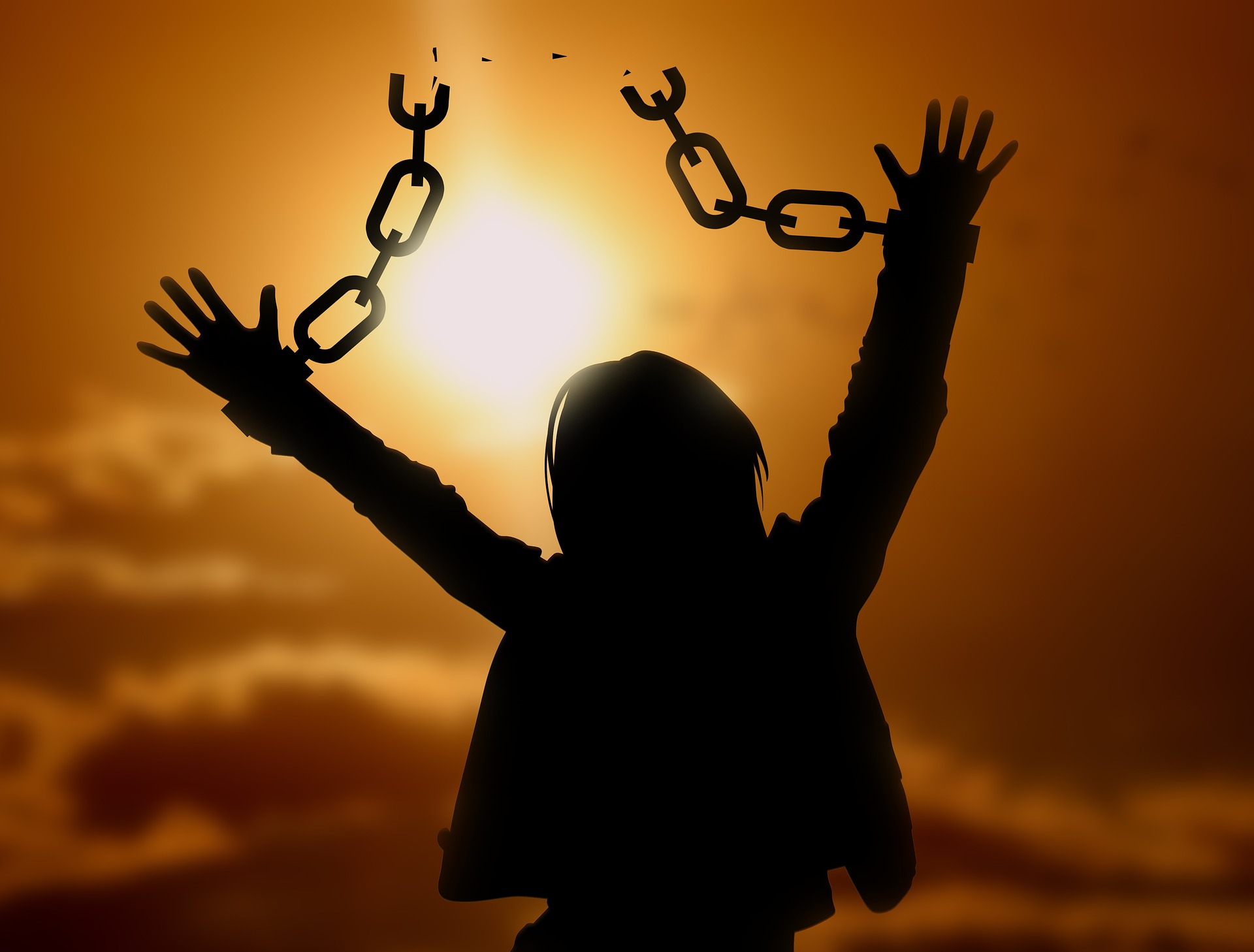femme chaine brisée liberté