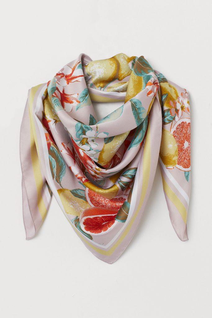 foulard, h&m, collabos, coup de coeur, mode, printemps, avril, fleuris