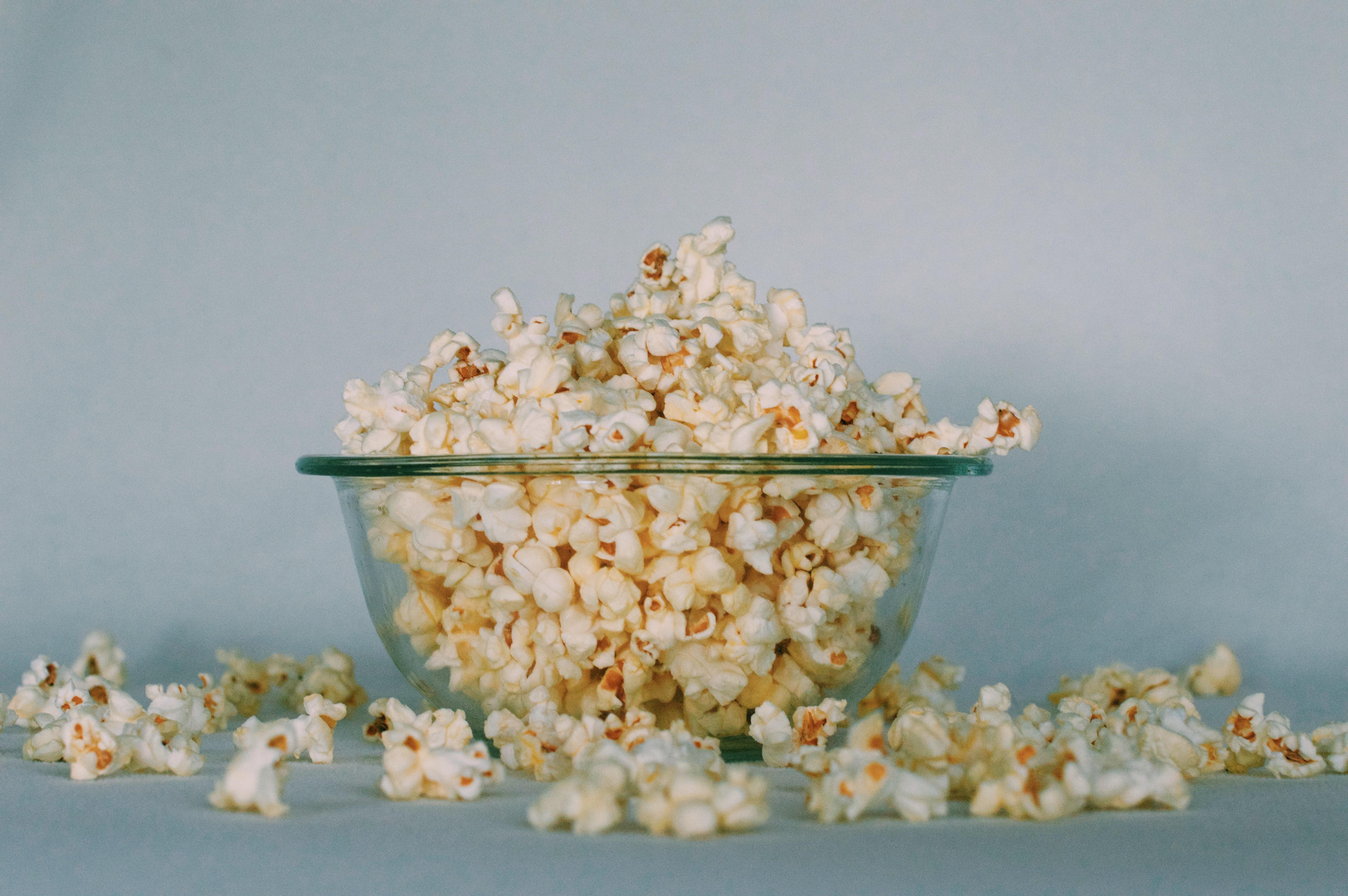 popcorn fond blanc