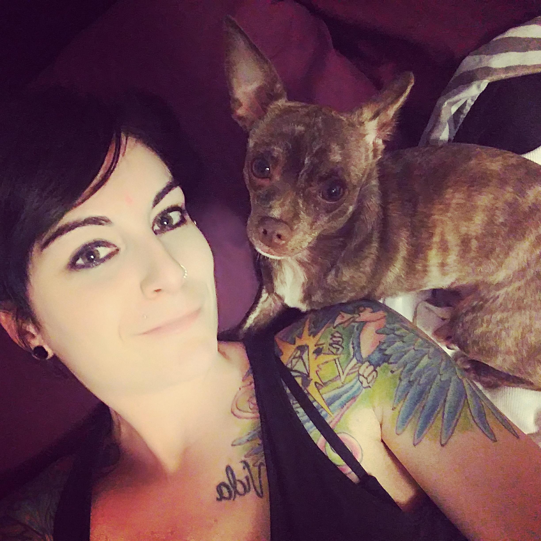 Julie et son chien