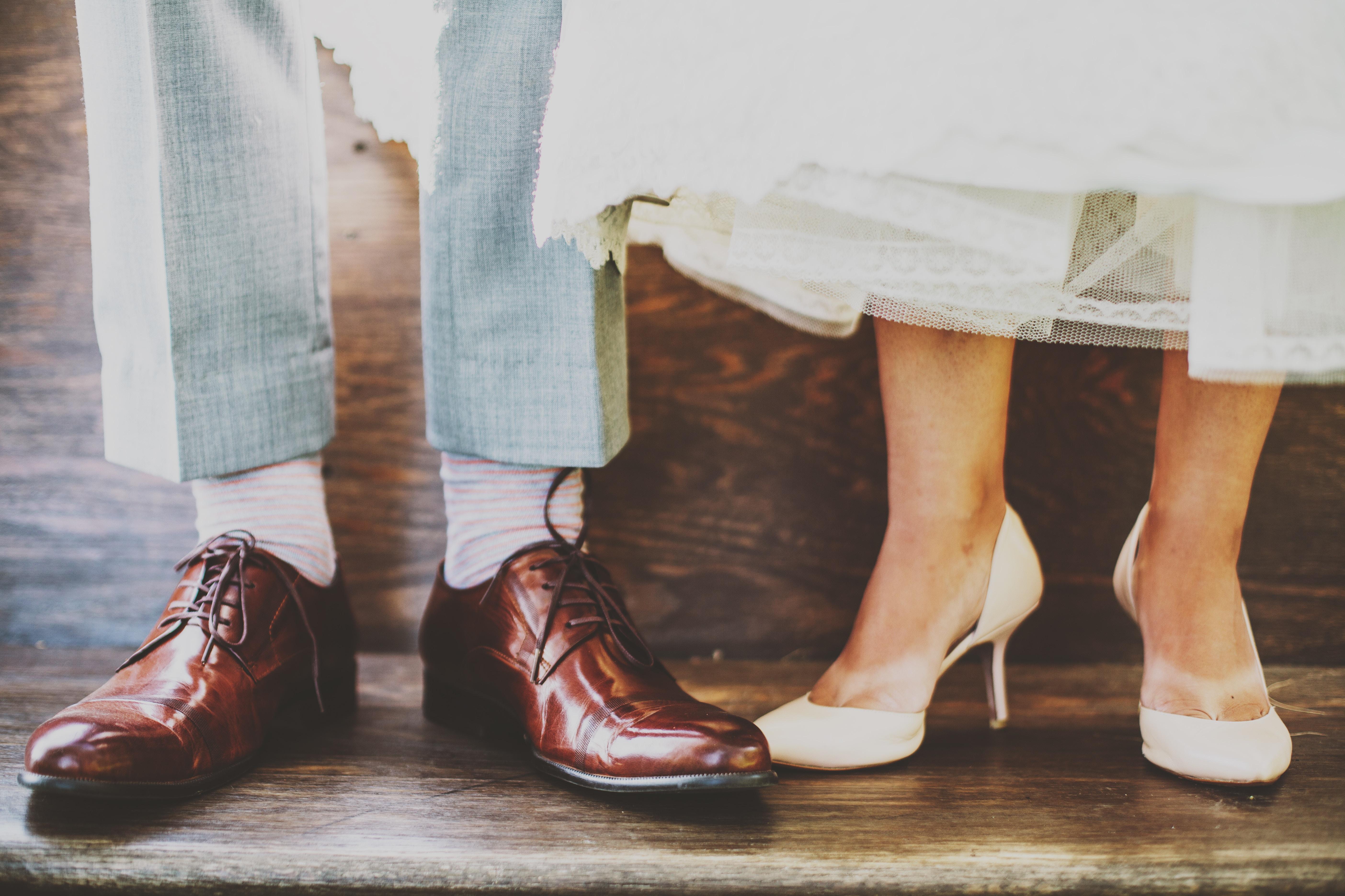 pieds de mariés