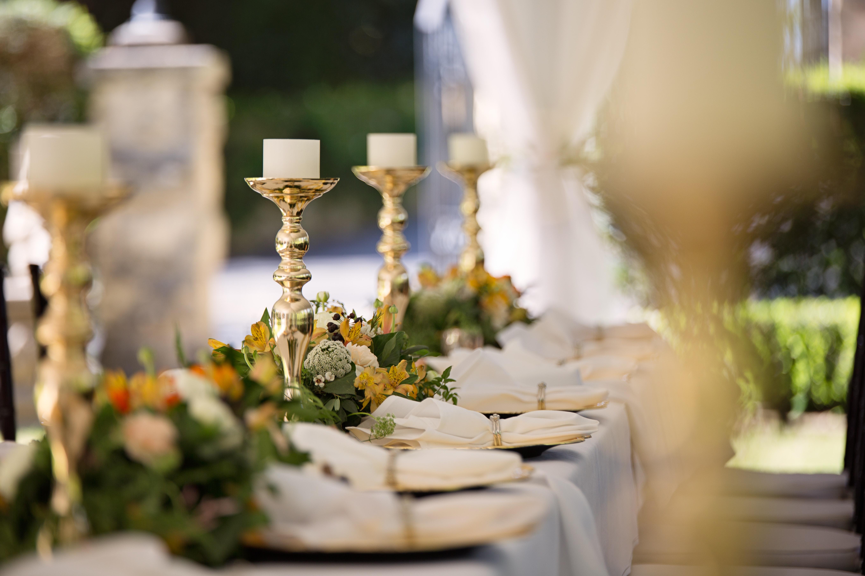 table mise pour un mariage