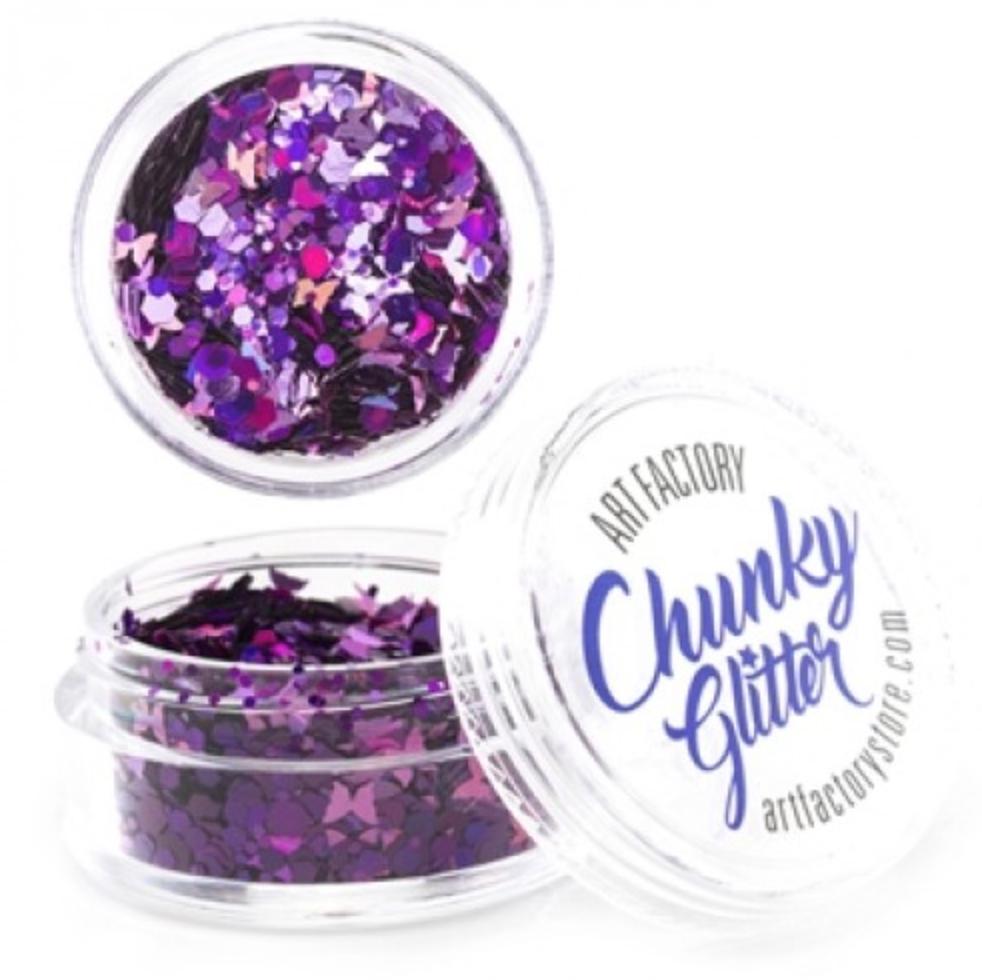 chunky glitter mauve